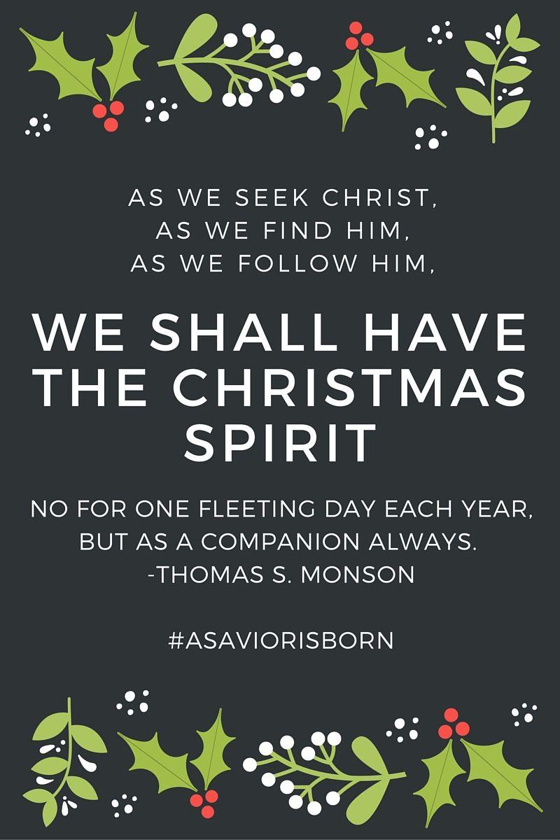Asaviorisborn Lds Lds Christmas Quotes Christmas Quotes Lds Christmas