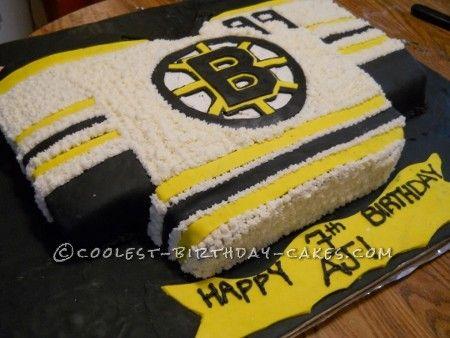 Boston Bruins Hockey Jersey Cake Cool Birthday Cakes Boston Bruins Hockey Hockey Cakes