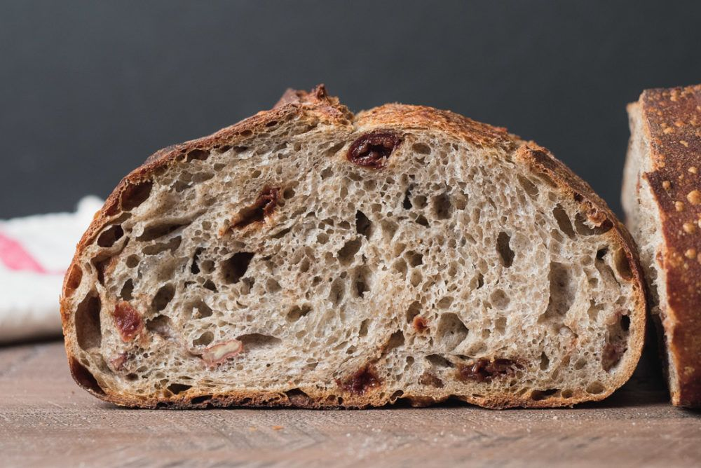 Sour Cherry, Toasted Pecan and Buckwheat Levain