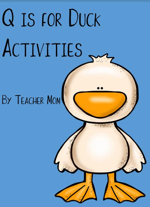 Q is for Duck Activities Alphabet recognition activities