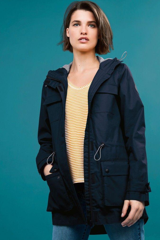 Womens Next Navy Utility Rain Jacket Blue Jackets