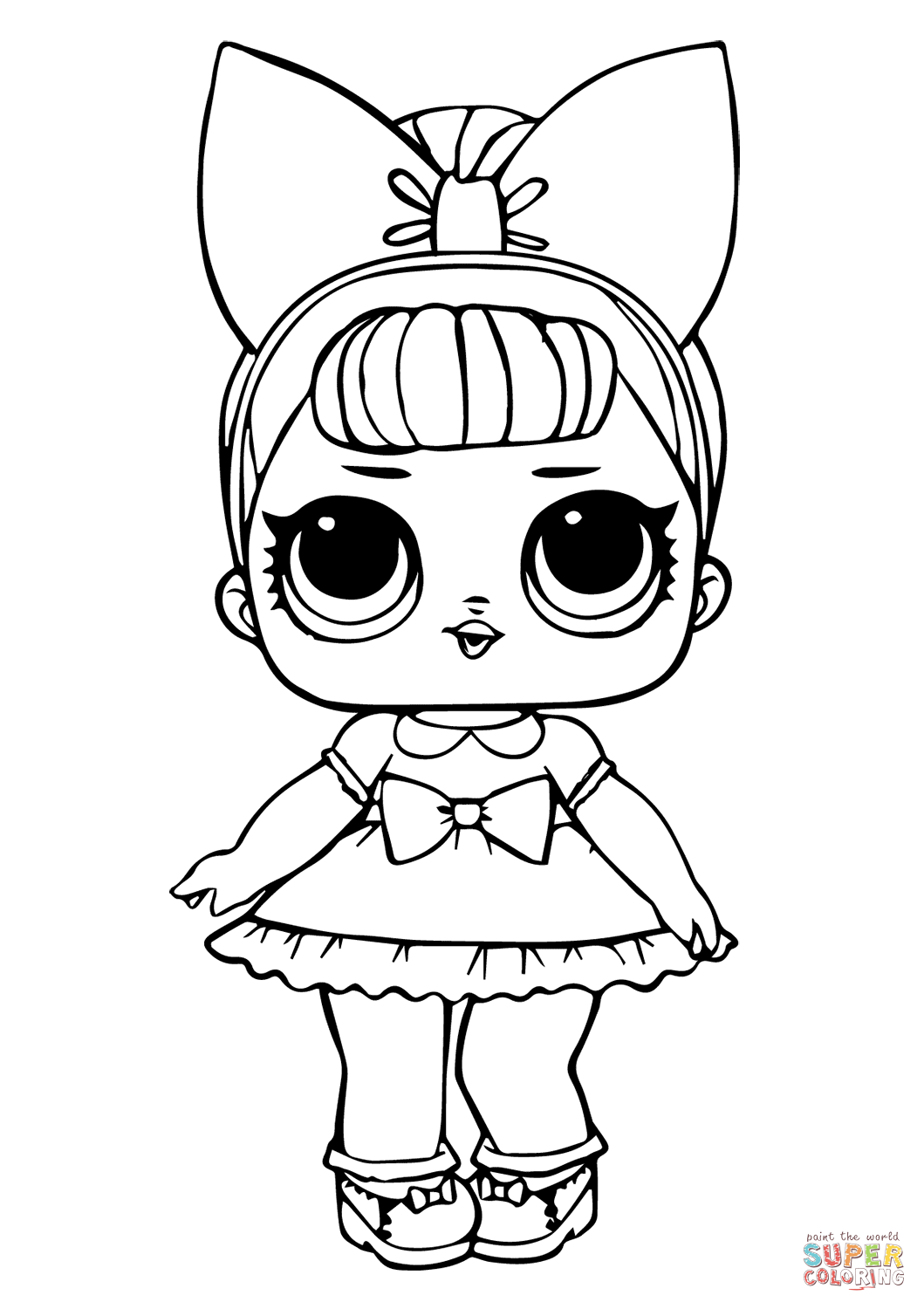 - Fancy Glitter LOL Surprise Doll Coloring Page Free Printable