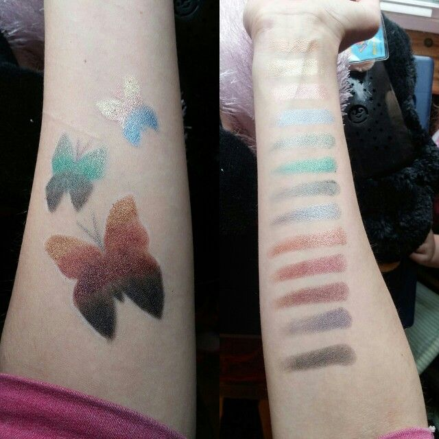 Swatches of the bh cosmetics supernova palette | Makeup ...