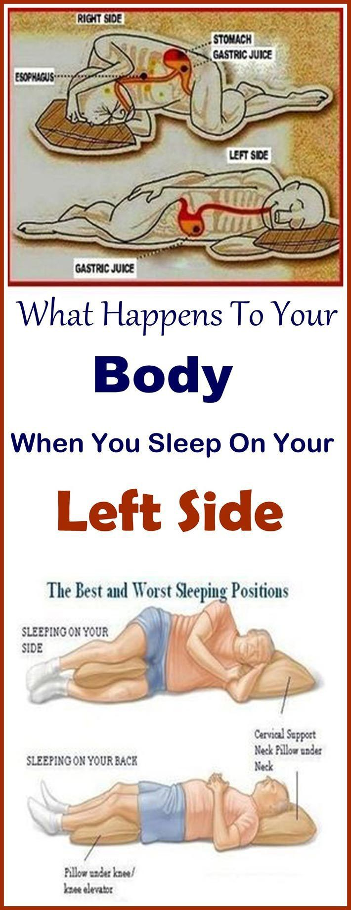 This Is Why You Should Be Sleeping On Your Left Side Sleep Leftside Health Health Sleeping Positions Health Benefits