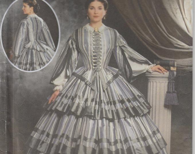 Civil War Era Gown Southern Belle Reenactment Misses Size 14 - 16 - 18 - 20 Uncut Simplicity 5442 #dressesfromthesouthernbelleera