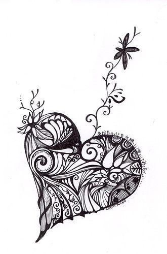 Coloriage Coeur Maitresse.Doodle Heart Cadeau Maitresse Coloriage Coeur Dessin Coloriage