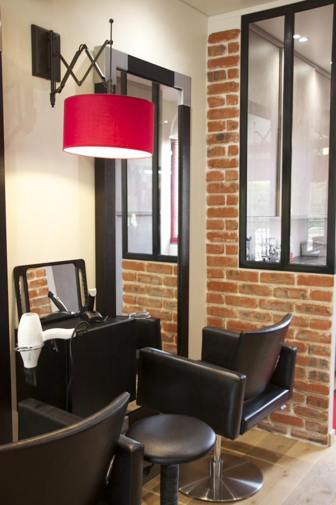 Aménagement d\'un salon de coiffure style industriel | File dans ta ...