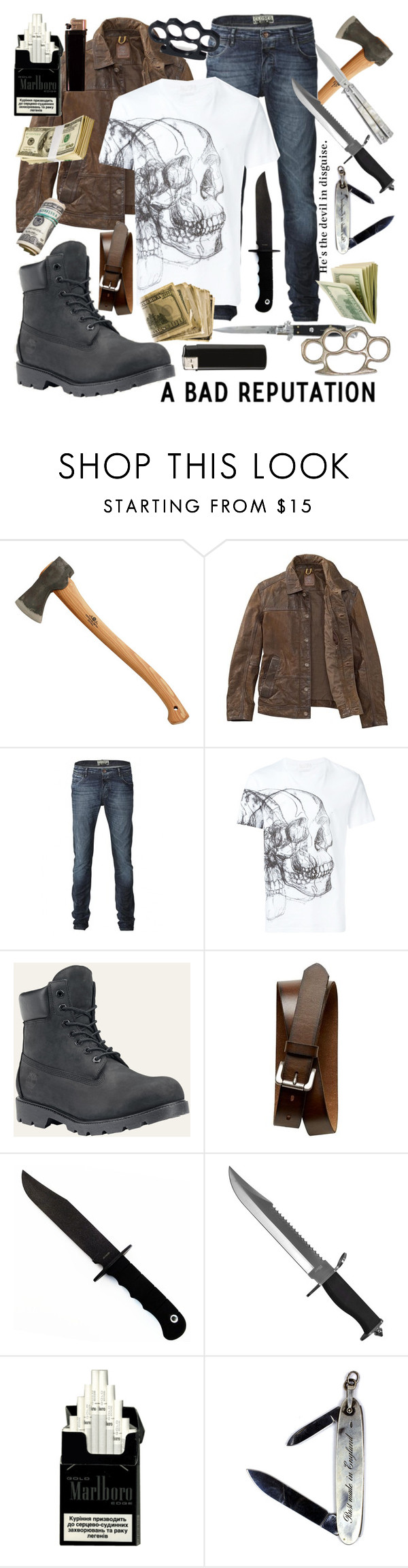 """""""Viktor"""" by ugliboi ❤ liked on Polyvore featuring Timberland, Closed, Alexander McQueen, Banana Republic, Whetstone Cutlery, Switchblade Stiletto, GAS Jeans, men's fashion and menswear"""