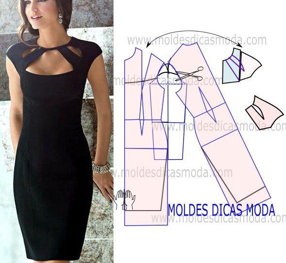 Moldes de vestidos para fiesta de noche para dama05 | la fabrica ...