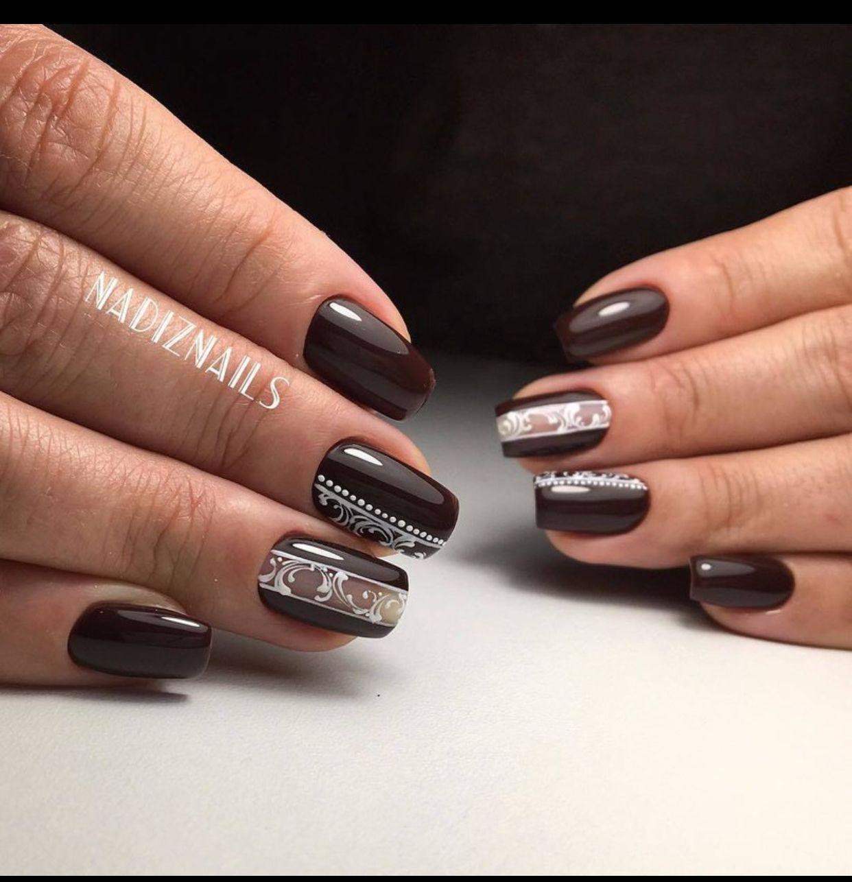 Autumn Nails Design Nail Art Designs 3d Diamond Decorations Stamping Pretty Beauty