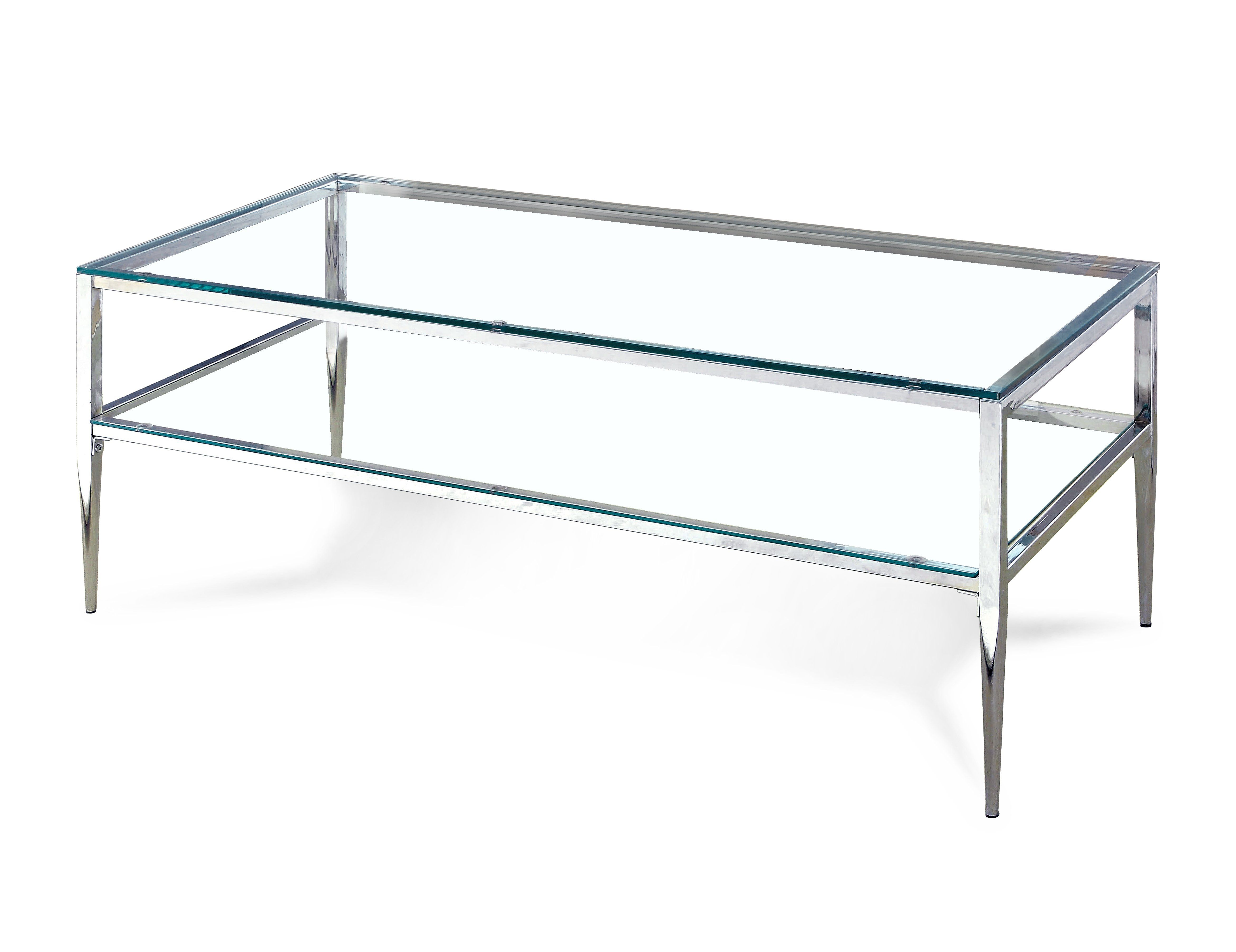 Rosaline Contemporary Chrome Coffee Table Contemporary Glass Coffee Tables Coffee Table Metal Coffee Table [ 3613 x 4688 Pixel ]
