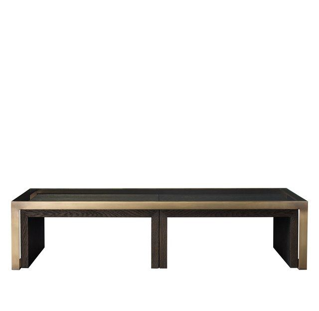 Graham Nesting Cocktail Tables By Anthony Cox In Brown Oak And Burnished  Brass; From $2,995.