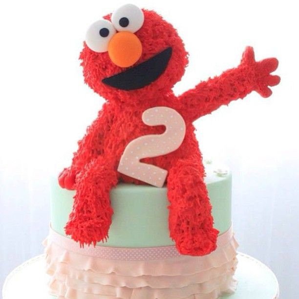 cake birthday birthdaycake elmo red baking bakeaboo icing