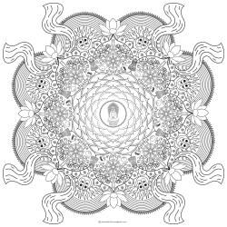 mandala zum ausmalen buddha in lotus mandalas. Black Bedroom Furniture Sets. Home Design Ideas