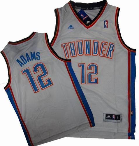 buy popular 4c9b9 fe6a1 Oklahoma City Thunder 12# Steven Adams Swingman Home White ...
