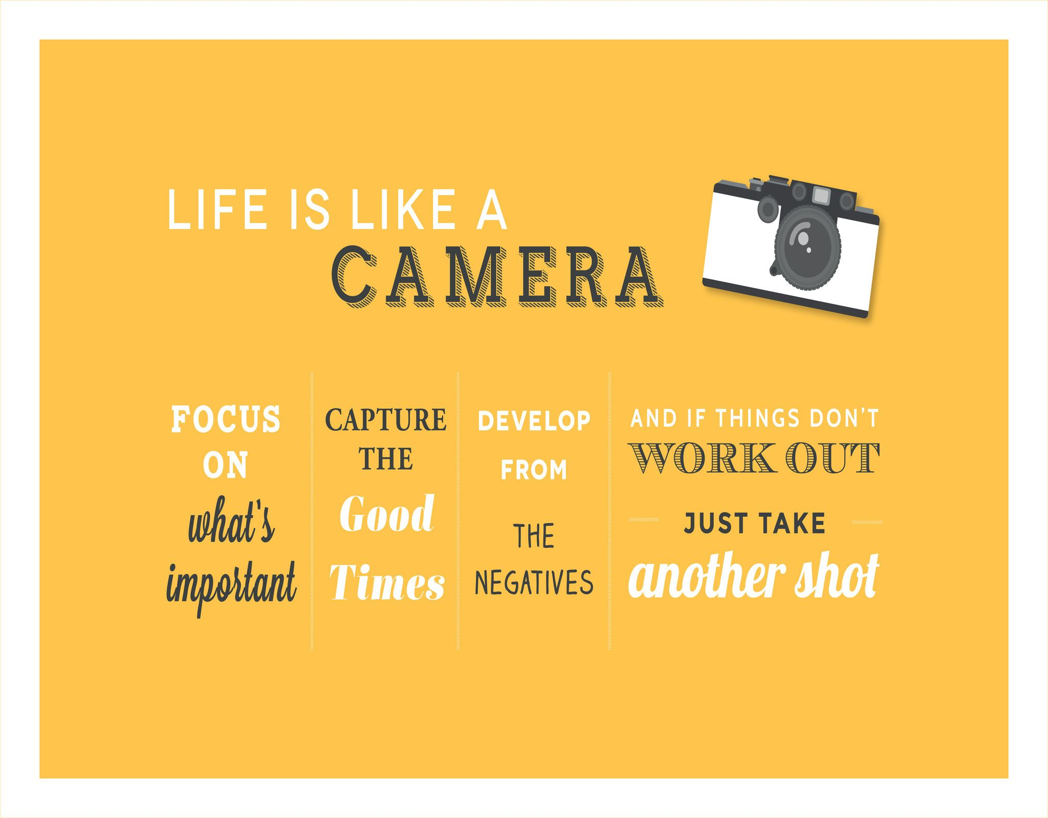 Life Is Like A Camera Photography Quotes Funny Quotes About Photography Camera Quotes