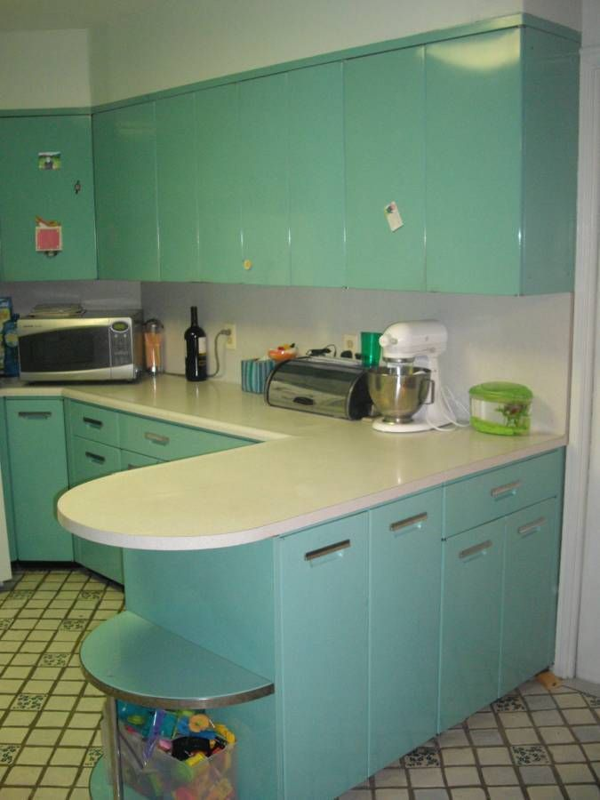 Metal Kitchen Cabinets - 24 Vintage 1959 GE cabinets - all ...