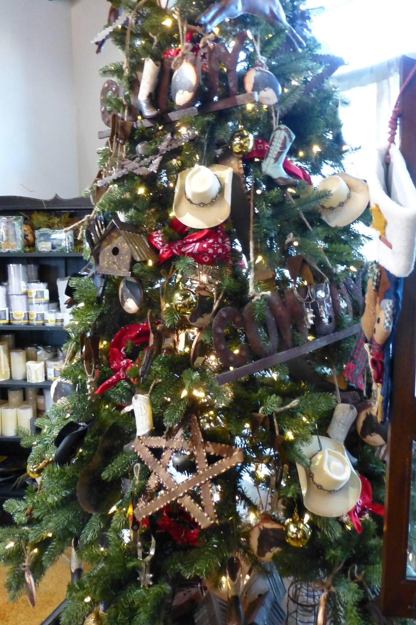 Cowboy Christmas Tree   Compliments Of Sue Murphy And The