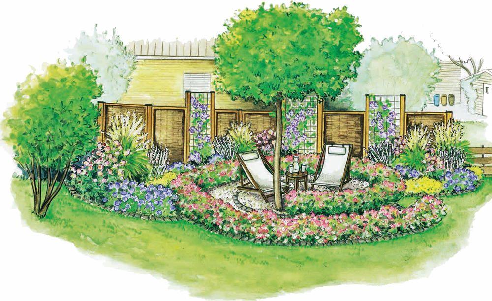 Eine Gartenecke zum Entspannen blumme Pinterest - reihenhausgarten vorher nachher