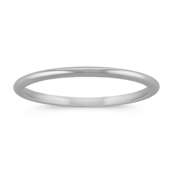 14k White Gold Wedding Band 1mm 14k White Gold Wedding Band White Gold Wedding Bands Gold Wedding Band