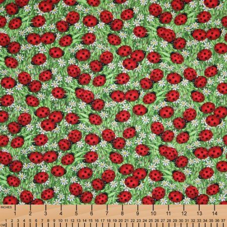 Amazon.com: Timeless Treasures Ladybugs Green, 44-inch (112cm) Wide Cotton Fabric Yardage: Arts, Crafts & Sewing