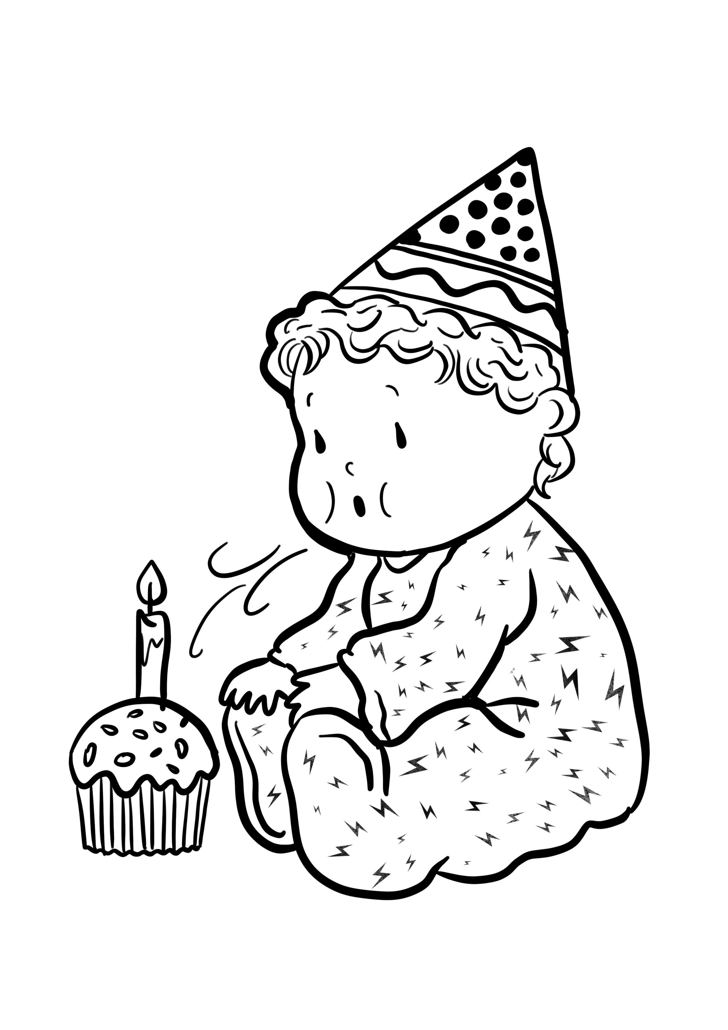 Disegni Di Compleanno Da Colorare Bebek Bebek