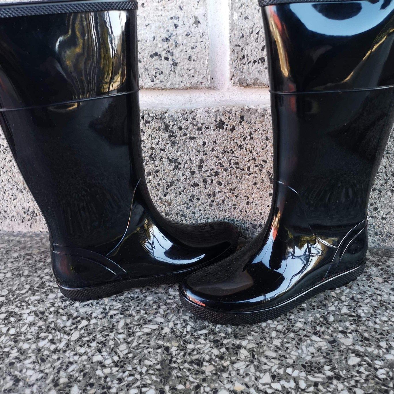 Kalosze Damskie Czarne Hawai Lady Bb Rain Boots Rubber Rain Boots Boots