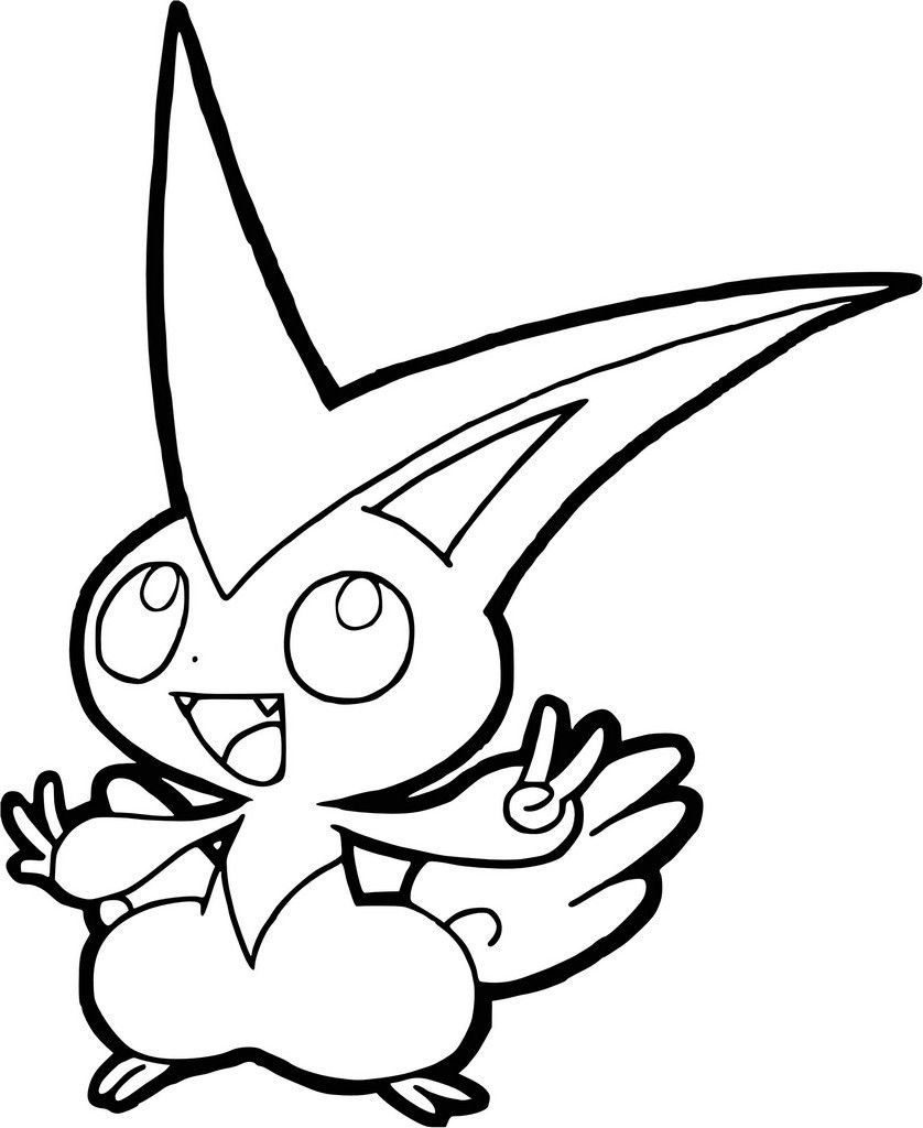 Coloriage Pokemon Legendaire Victini Pokemon Art Desktop
