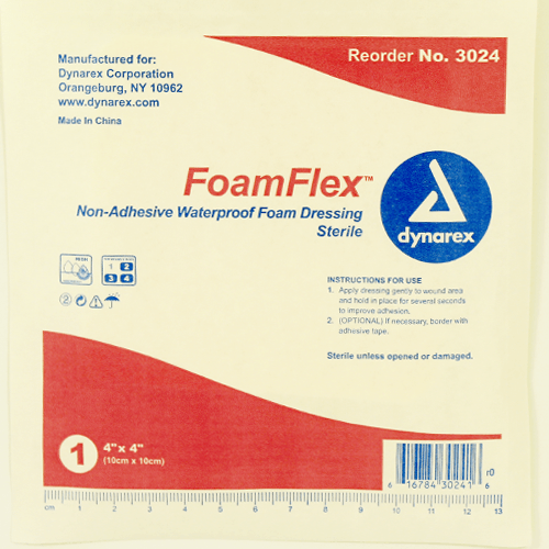 Foamflex Non Adhesive Waterproof Foam Dressing Offers A Semi Permeable Film That Allows The Wound To Breathe While Maintaining A Moist Wound Care Adhesive Foam