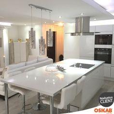 Cuisine Ouverte Sur Salon Avec Ilot Central Multifonction - Cuisine ouverte avec ilot table