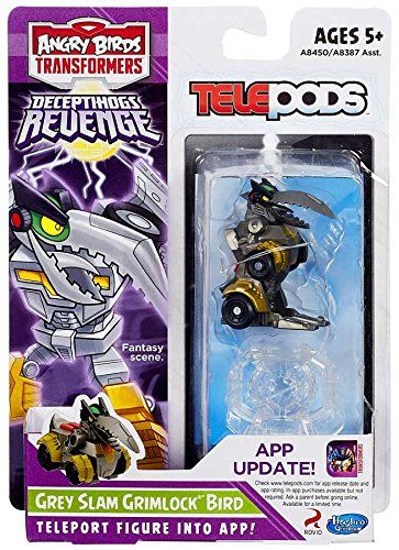 Angry Birds Transformers Telepods Grey Slam Grimlock Bird Figure