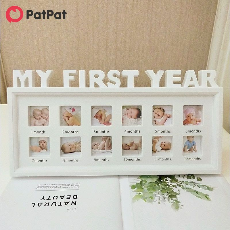 My First Year Baby 12 Month Photo Frame In 2020 Baby 12 Months Baby Photo Frames Baby Month By Month