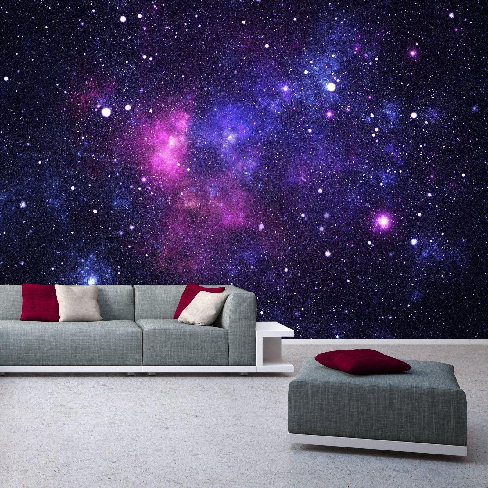 Photo Wallpaper Mural Galaxy 366x254 Cm Space Stars Universe Cosmos Deco Deals Galaxy Bedroom Photo Wallpaper Girls Room Wallpaper