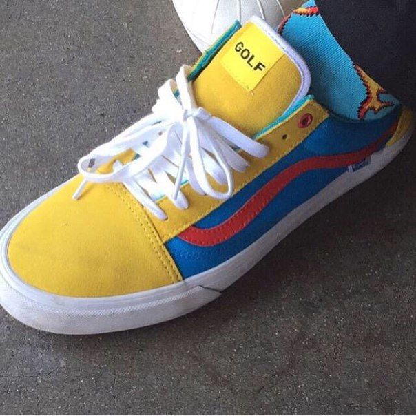 VANS OLD SKOOL PRO GOLF WANG YELLOW BLUE RED VN000ZD4J7U  57ed2ef6d