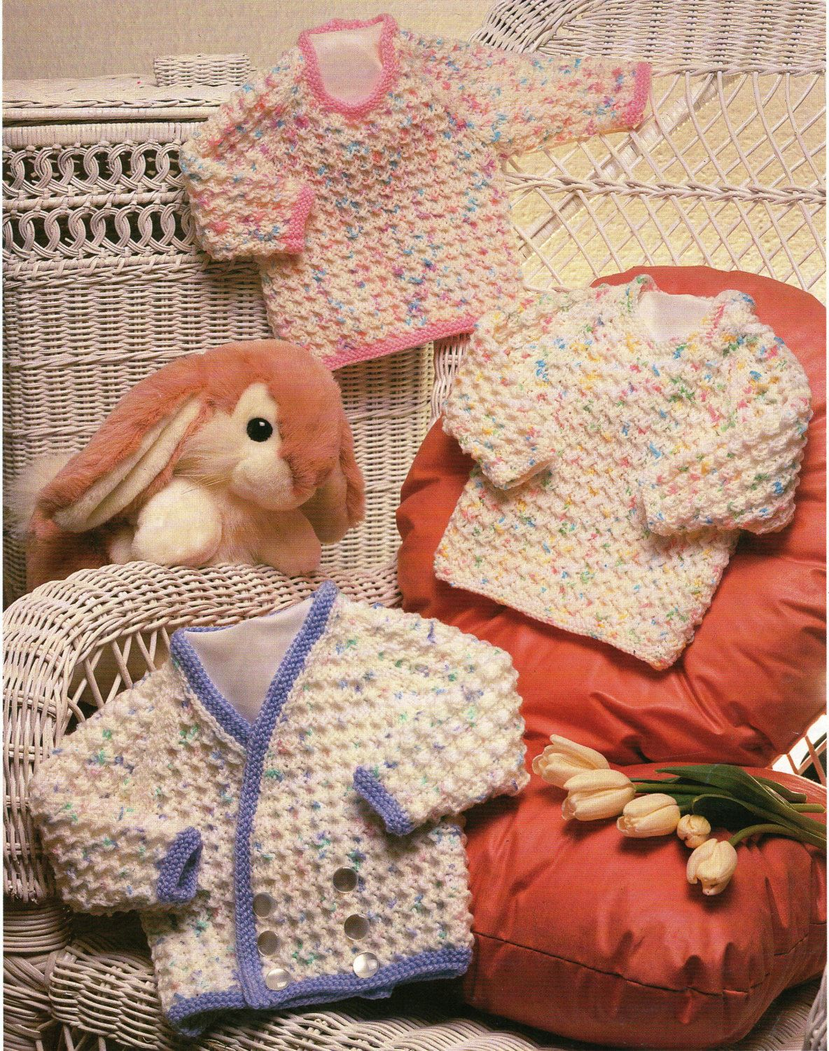 baby toddler childrens sweaters & cardigan knitting pattern double ...