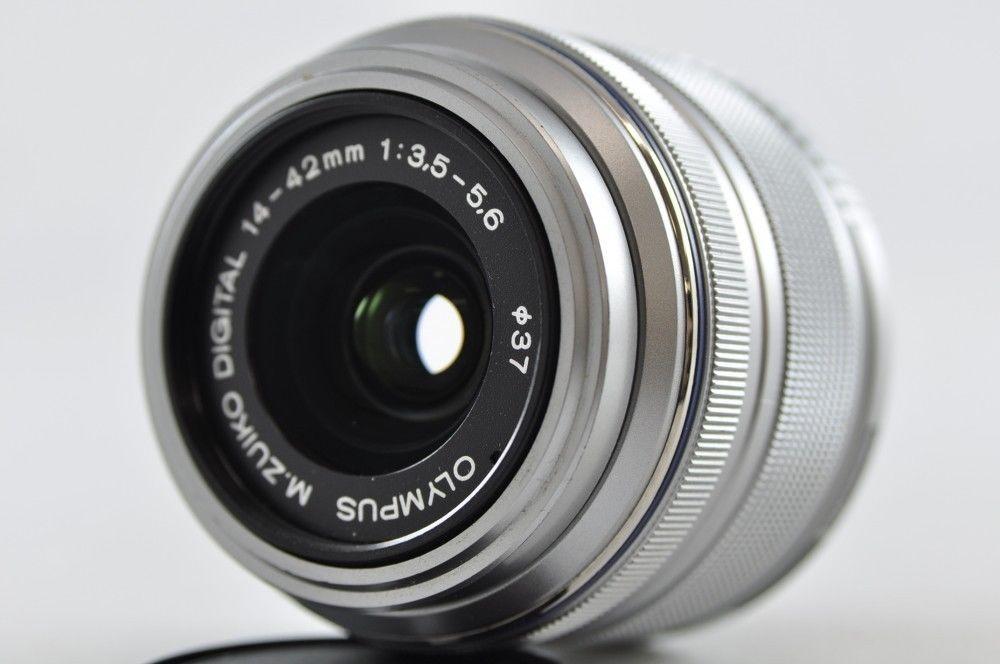 Exc Olympus M Zuiko Digital 14 42mm F3 5 5 6 Ii R Lens Silver Micro 4 3 Digital Lens Olympus