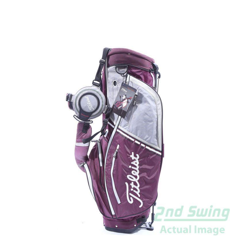 aa0a6f4307e Used New Titleist Custom Lightweight Golf Stand Bag Eggplant Grey Silver - 2nd  Swing Golf  2ndSwing  Golf  Golfbag  LadyGolfers  Purple