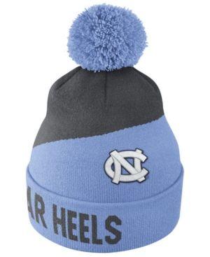 99855feaceb Nike North Carolina Tar Heels Champ Pom Knit Hat - Blue Adjustable ...