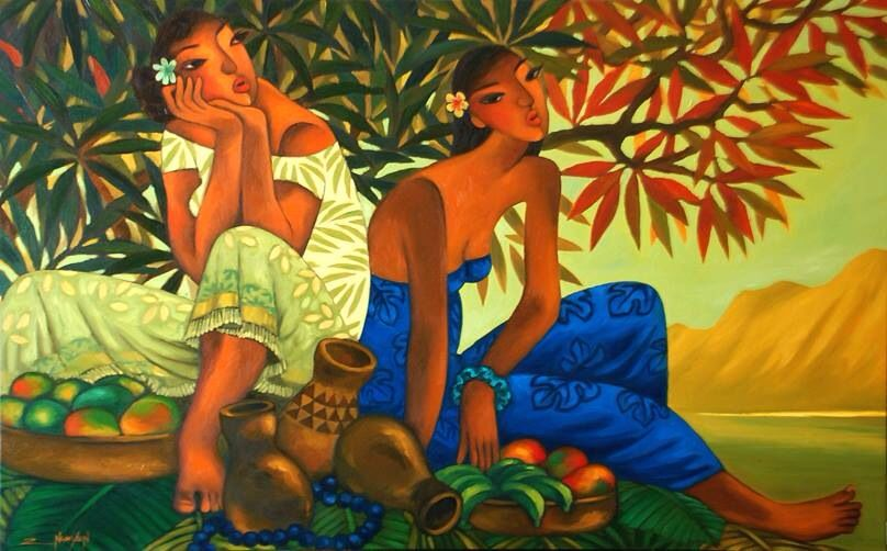 Beautiful new oil painting by Hawaii artist Tim Nguyen.  See all of Tim's paintings right here --> www.martinandmacarthur.com