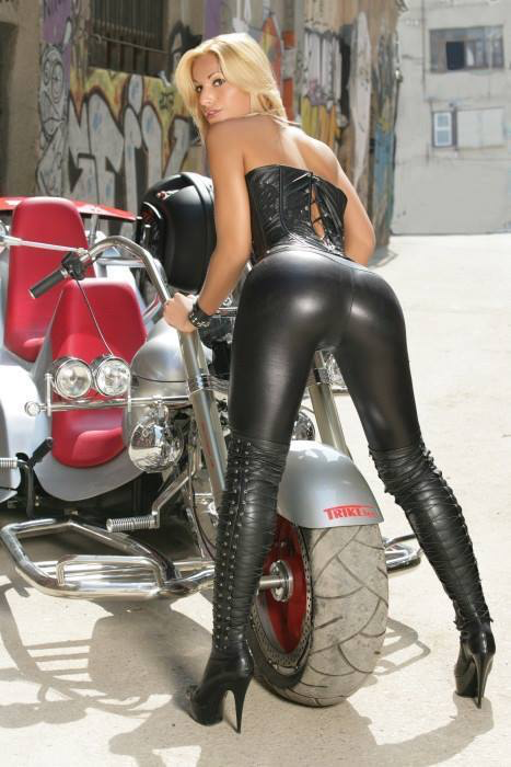 boots chick Hot biker