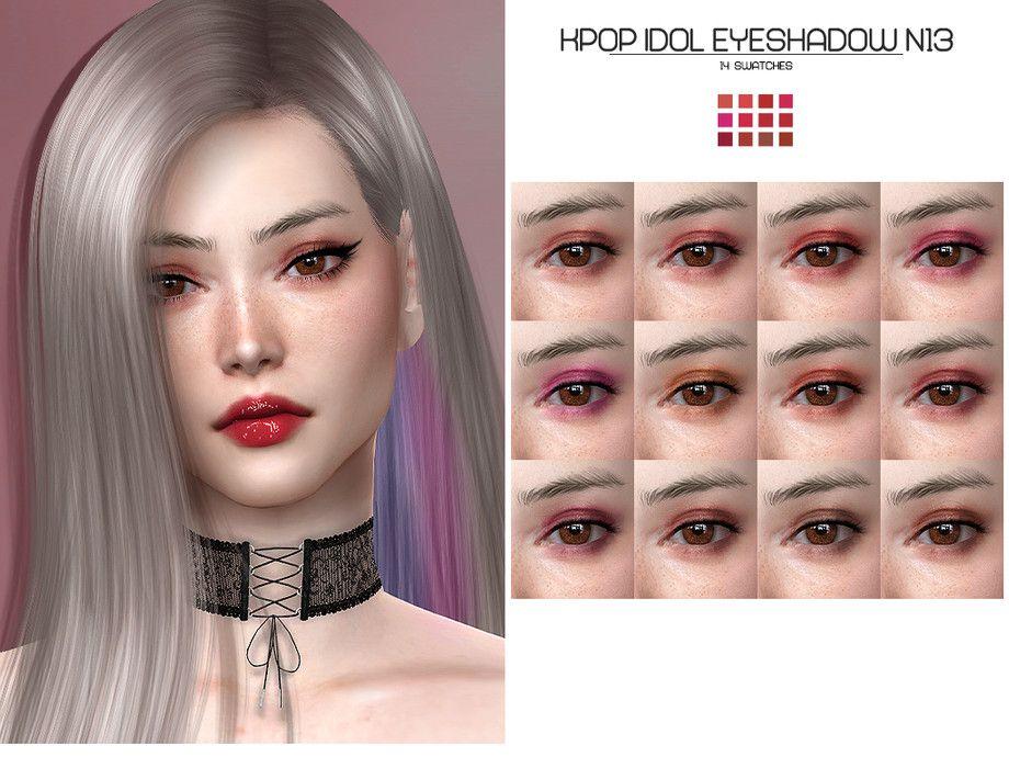 Lisaminicatsims Lmcs Kpop Idol Eyeshadow N13 Kpop Idol Idol Sims 4