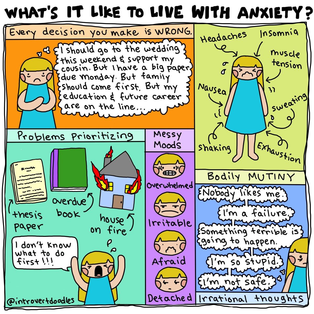 Image result for @introvertdoodles anxiety