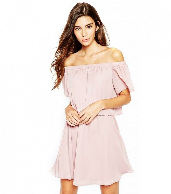 ASOS Gypsy Off Shoulder Dress with Short Sleeves.