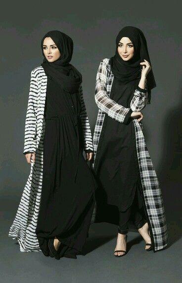 6c985d84a476 Long shrug Kimono Outfit, Kimono Fashion, Modest Fashion Hijab, Hijab  Casual, Abaya