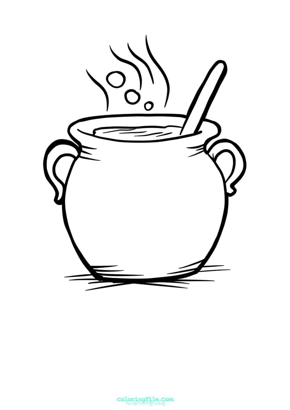 Cauldron Halloween Coloring Pages Halloween Coloring Pages Halloween Coloring Pages Printable Halloween Coloring