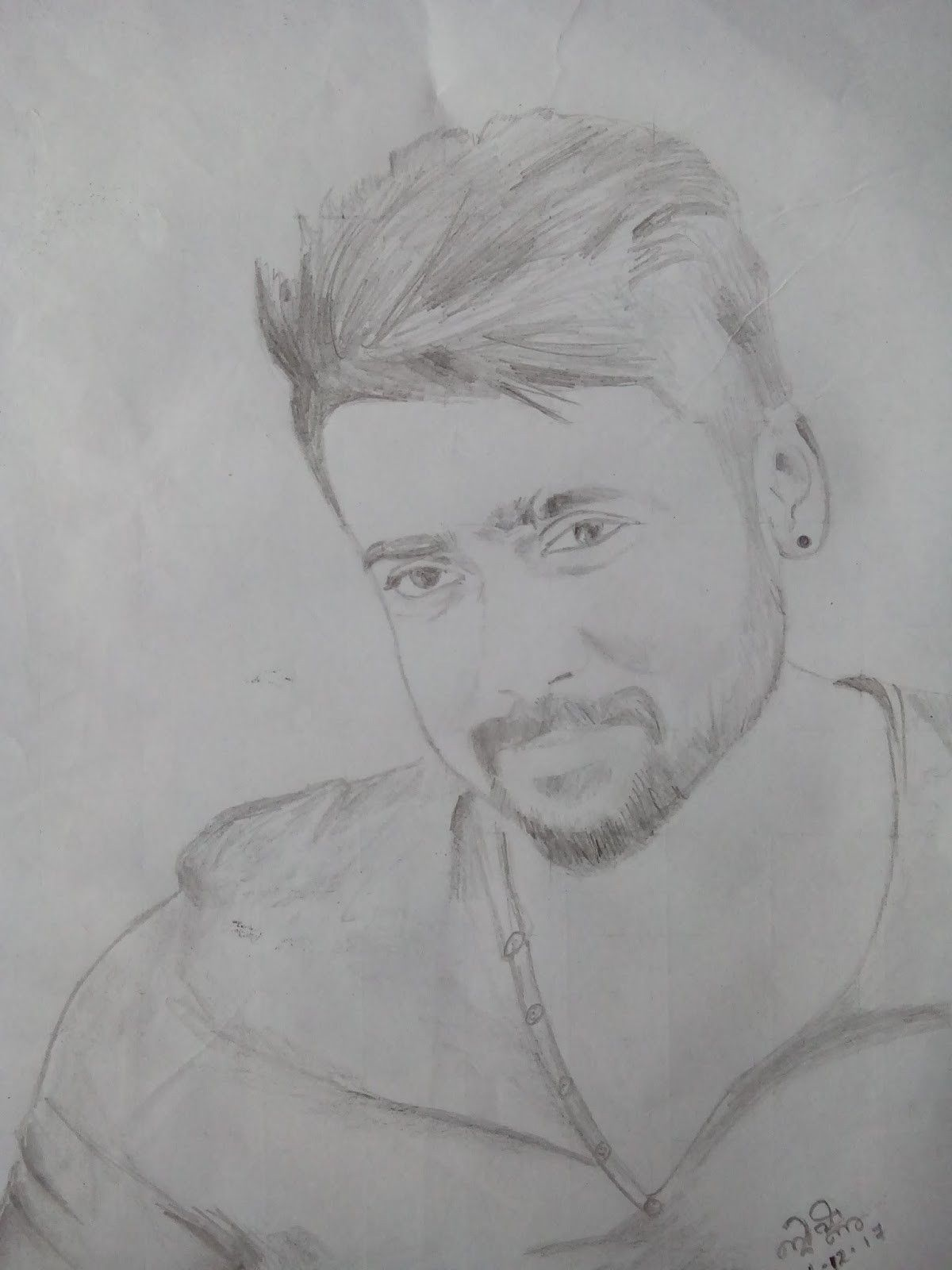 Tamil Actor Surya Pencil Drawing In 2020 Pencil Drawing Images Girly Drawings Pencil Sketch