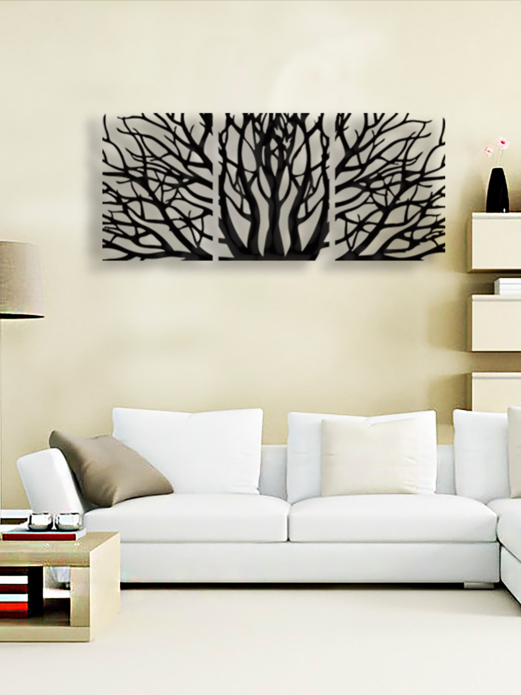 Metal Wall Tree Tree Branches 3 Piece Metal Wall Art Metal Etsy In 2020 Metal Wall Art Decor Tree Wall Loft Decor