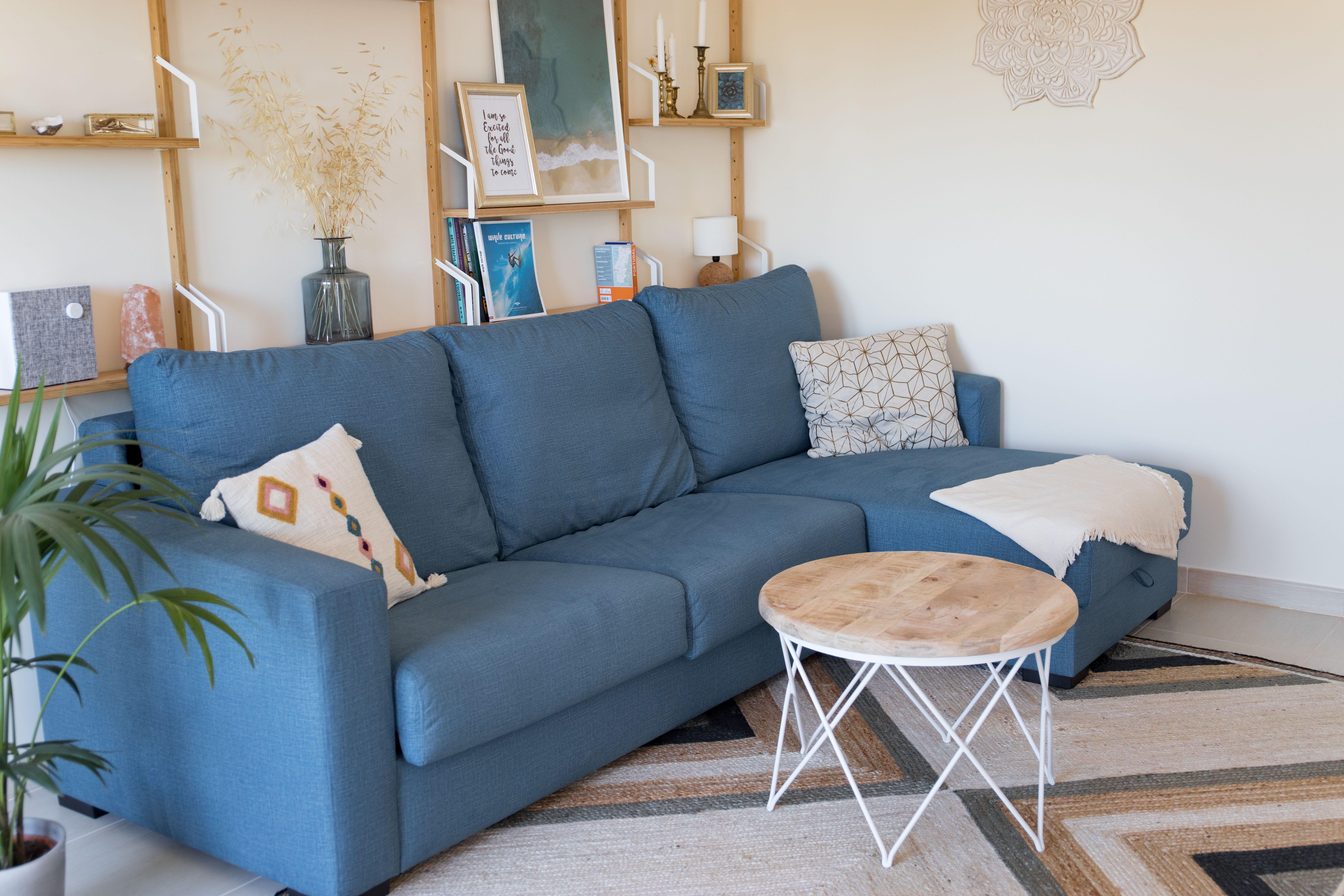 Blaues Sofas Blaues Meer Blue Sofa Beige Walls Blue Couches