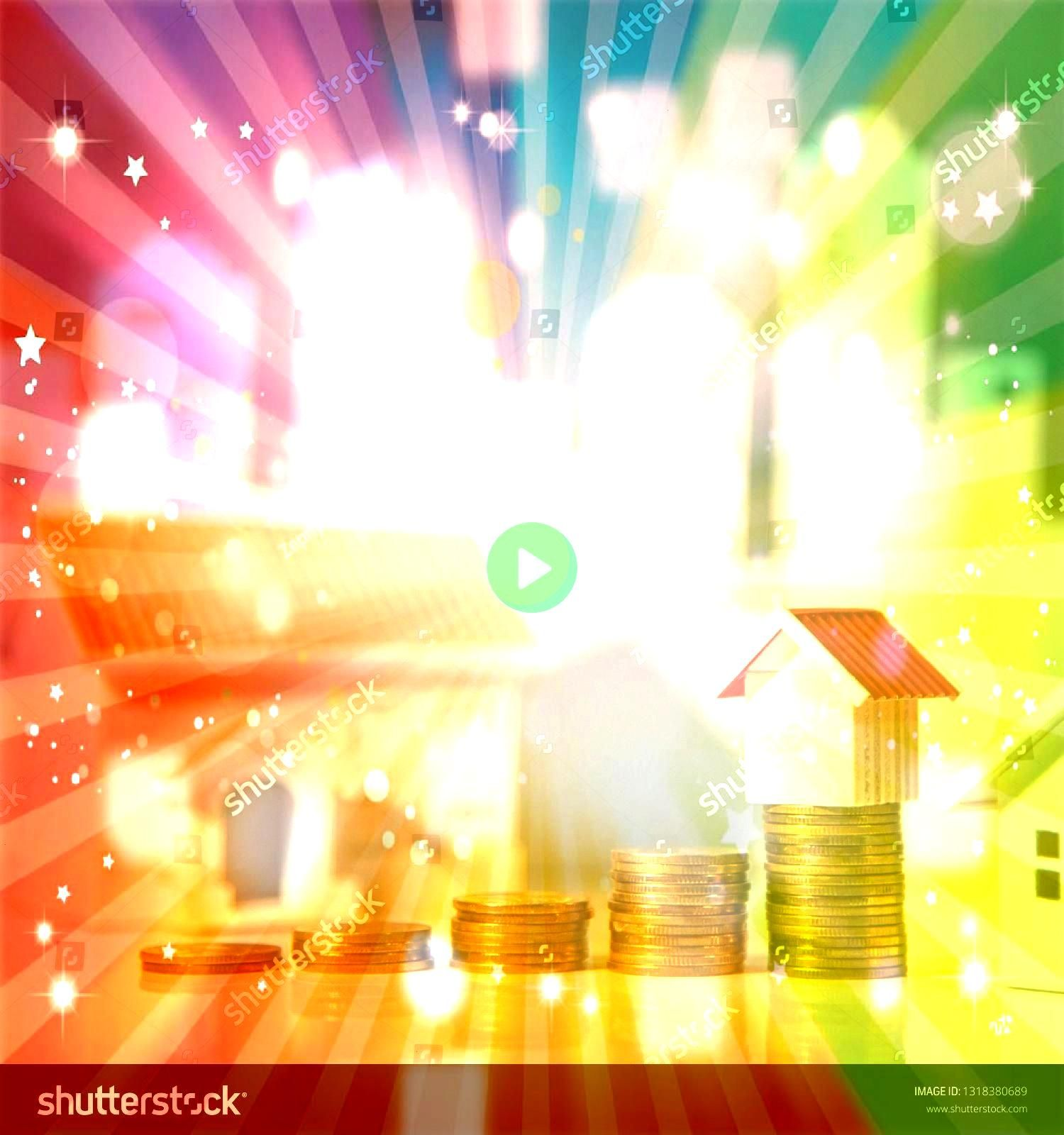 investment or Home mortgage loan rate Property ladder concept Coins stack and house models on the table with white city background Money investing and business growth Rea...