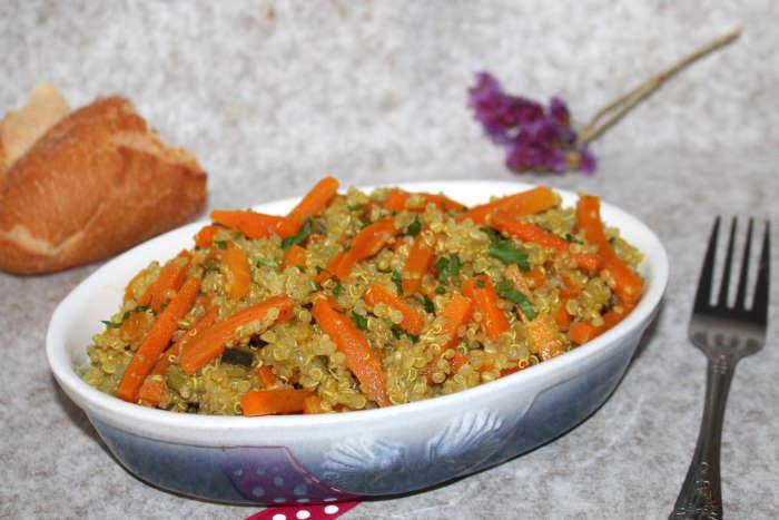 Quinoa aux carottes et courgettes